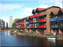 TQ3880 : Houses on Blackwall Basin by Rod Allday