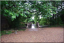 TQ1773 : Footbridge by the Thames Path by N Chadwick