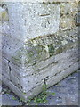 SP8113 : Benchmark on buttress of St Mary's Church by Roger Templeman