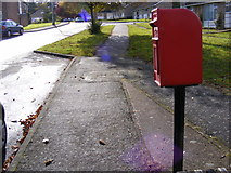 TM3877 : Lansbury Road, Halesworth & Lansbury Road Postbox by Adrian Cable