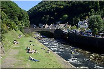 SS7249 : The River at Lynmouth by Tony Atkin