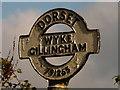 ST7926 : Gillingham: detail of Wyke finger-post finial by Chris Downer