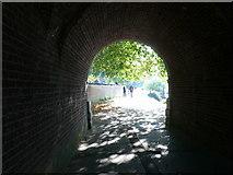 TQ1774 : The Thames Path goes under Richmond Bridge by Eirian Evans