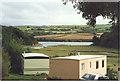 SW9774 : The Camel Estuary over the caravans at Dinham Farm by Sarah Charlesworth