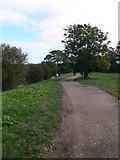 TQ1773 : The Thames path near Ham House by Eirian Evans