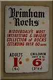 SE2065 : Old Sign, Brimham Rocks by Mark Anderson