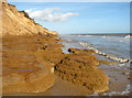 TM5281 : Clay beds at the foot of Covehithe Cliffs, Covehithe by Evelyn Simak