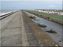 SD3145 : Sea wall and promenade, Larkholme by Tony Fisher