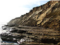 TM5282 : Clay beds and sandy cliffs below Covehithe by Evelyn Simak