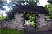 SH5065 : Lych gate to Eglwys y Santes Fair by Steve Daniels