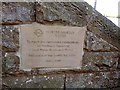 NZ0493 : Commemorative plaque, Fontburn Reservoir by Oliver Dixon