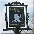 TQ6535 : Elephant's Head sign by Oast House Archive