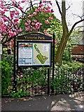 SJ9222 : Victoria Park (1) - Information board by P L Chadwick