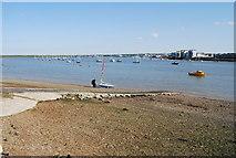 TQ7771 : Launching a dinghy, Wilsonian Sailing Club by N Chadwick