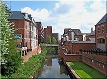SJ9223 : River Sow looking towards Bridge Street by P L Chadwick