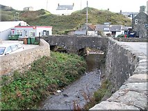SH1726 : Afon Cyllyfelin just above its confluence of Afon Daron at the centre of Aberdaron by Eric Jones