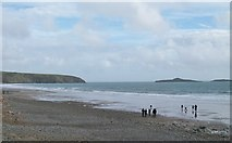 SH1726 : View east along the beach at Aberdaron by Eric Jones
