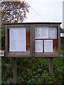TM3775 : Walpole Village Notice Board by Adrian Cable