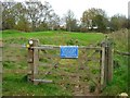 ST7765 : Gate to footpath over Bath Golf Course by David P Howard
