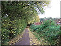 TL1598 : Footpath next to Thorpe Wood golf course, Peterborough by Richard Humphrey