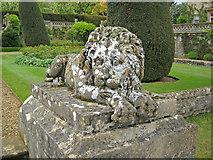 ST9769 : Recumbent lion sculpture by Trevor Rickard