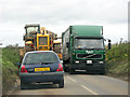 TF9226 : A tight squeeze on the B1146 (Main Dereham Road) by Evelyn Simak