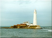 NZ3575 : St. Mary's Lighthouse (1994) by Graham Hogg