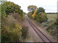 TM3979 : Railway Line at Spexhall Bridge by Adrian Cable