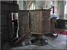 SO3958 : Carved pulpit by Bill Nicholls