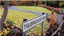 J2766 : Tullynacross Road sign, Lambeg by Albert Bridge