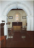 TQ0004 : Norman chancel arch, St. Mary Magdalene, Tortington, West Sussex by nick macneill