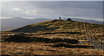 NY8235 : Trig Point at summit of Great Stony Hill by Trevor Littlewood