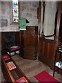 NU2229 : St Ebba Church, Beadnell, Pulpit by Alexander P Kapp