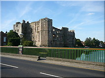 SK7954 : Newark Castle as seen from the road bridge over the River Trent by Colin Park