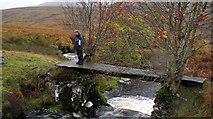 NN6914 : Footbridge over Allt Ollach by Trevor Littlewood