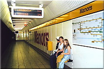 NZ2564 : Manors, Tyne and Wear Metro System by nick macneill