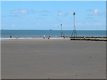 SH8678 : Beach to the east of Victoria Pier, Colwyn Bay by Eirian Evans