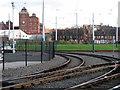 SK5541 : Wilkinson Street: entrance to the tram depot by John Sutton