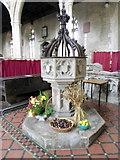 ST6834 : Font, St Mary's Church by Maigheach-gheal