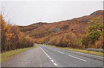 NM7682 : A830 west of Lochailort by Steven Brown