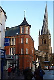 SK3871 : Town centre and parish church, Chesterfield by Andrew Hill