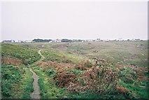 SW3526 : Footpath in Vellan Dreath Valley, Sennen, Cornwall by Trionon