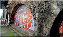 J3473 : Railway arches, Belfast (2) by Albert Bridge