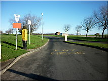 TA1181 : Entrance to Filey Brigg car park by Ian S