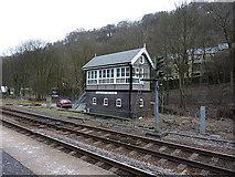SD9926 : Hebden Bridge Railway Station, Signal box by Alexander P Kapp