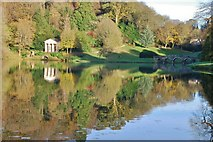 ST7733 : Stourhead Gardens: Lake view of The Palladian Bridge by Mr Eugene Birchall