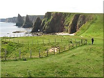 ND4072 : Coast path by Thirle Door by Richard Webb