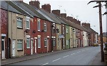 SK4976 : Terraced houses, Barlborough Road, Clowne by Andrew Hill