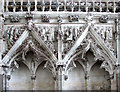 TL5480 : Ely Cathedral - the Lady Chapel (detail) by Evelyn Simak