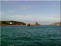 SV8815 : Looking north towards Hangman's Island by Andrew Abbott